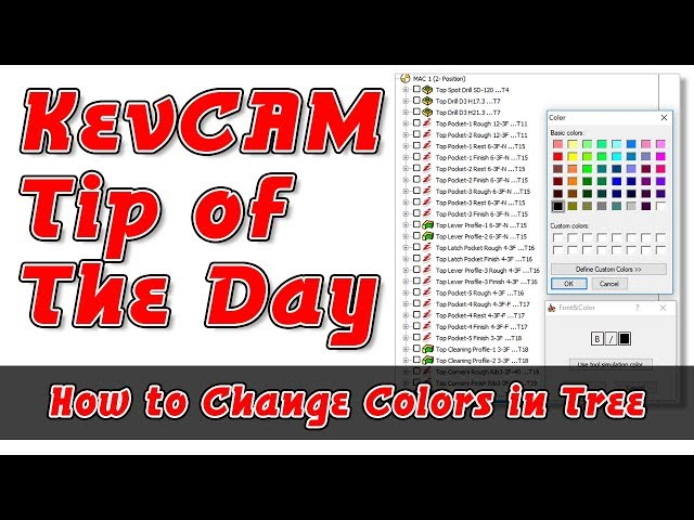 Tip of the Day - How to Change the Color in the Tree
