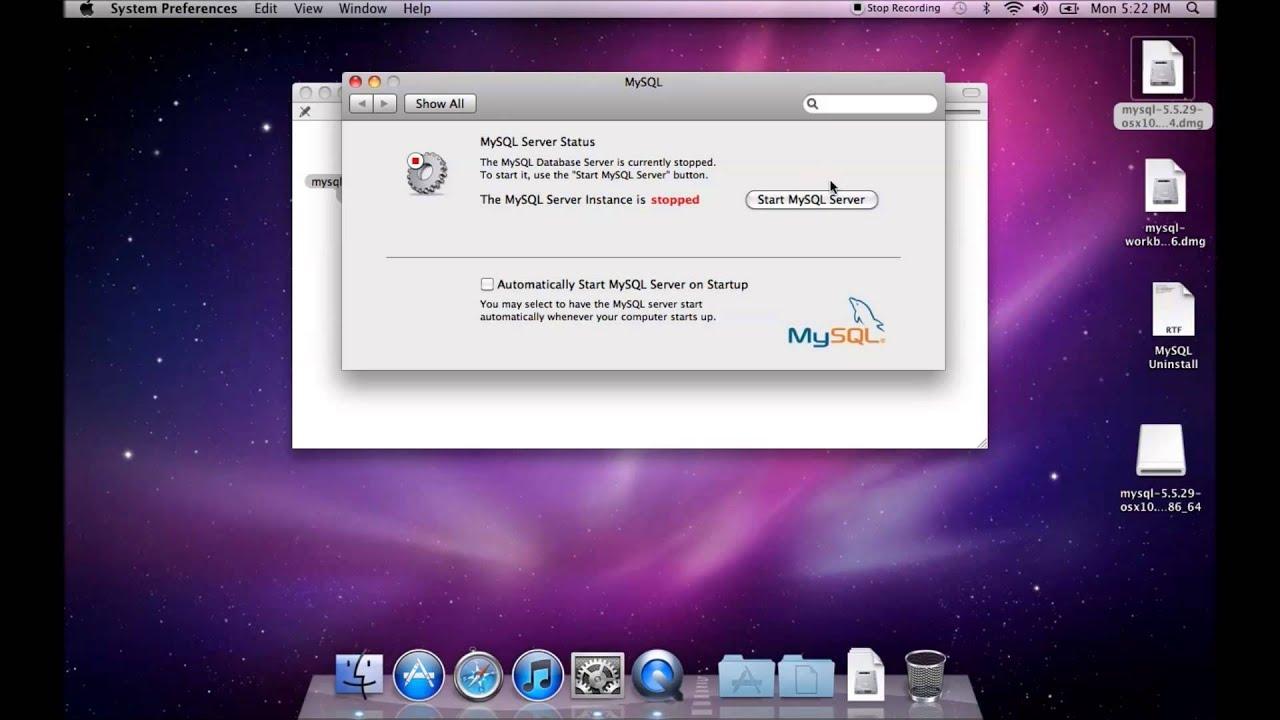 how to run mysql on mac
