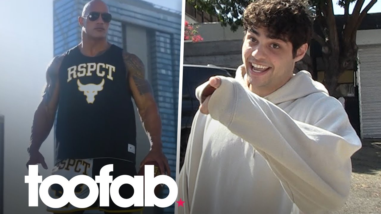Noah Centineo Admits He Couldn't Keep Up With The Rock Training For Black Adam | toofab