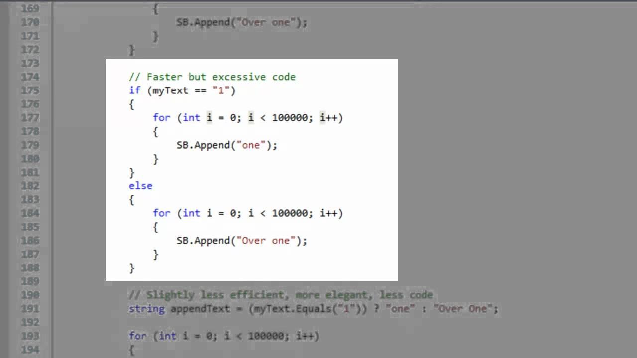 Clean code c#