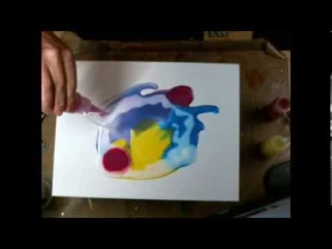 Pouring Medium and Splash Ink Canvas