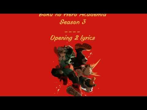 My Hero Academia S3 OP2 (Lenny Code Fiction - Make My Story) Lyrics Video