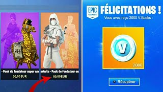 KNOW THE WORLD FREE AND 2000 V-BUCKS OFFERT on FORTNITE...