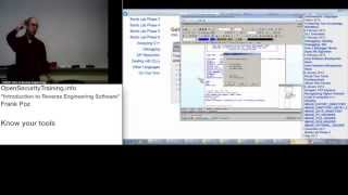2013 Day1 P3: Intro to REing Software - Know Your Tools