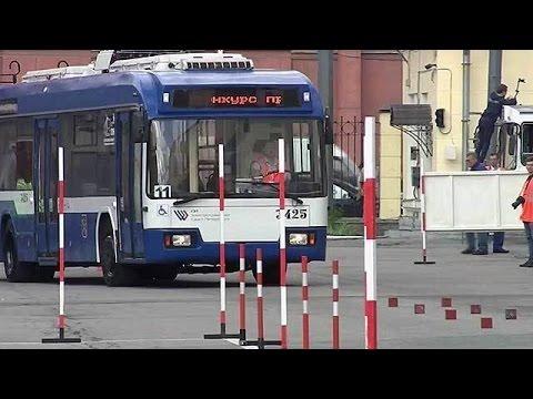 Смотреть В Санкт‑Петербург для участия в профессиональном конкурсе съехались водители троллейбусов. онлайн