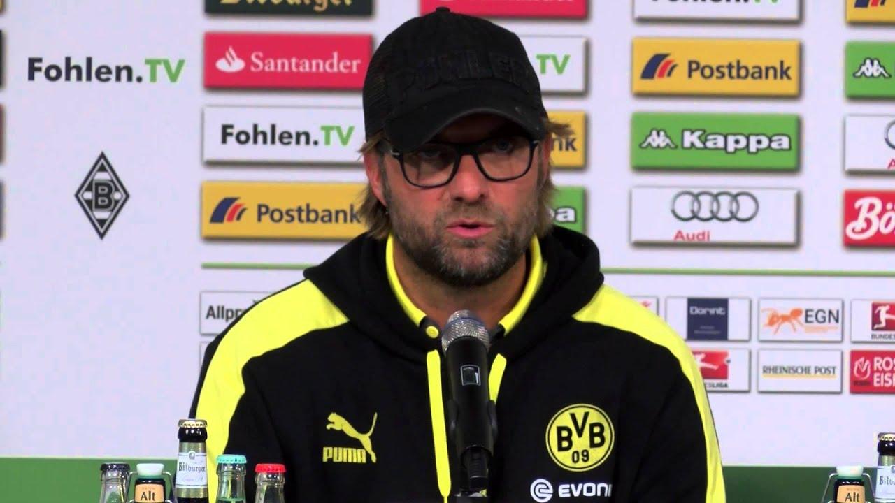 Mönchengladbach - Dortmund: Pressekonferenz nach dem Spiel mit Favre und Klopp