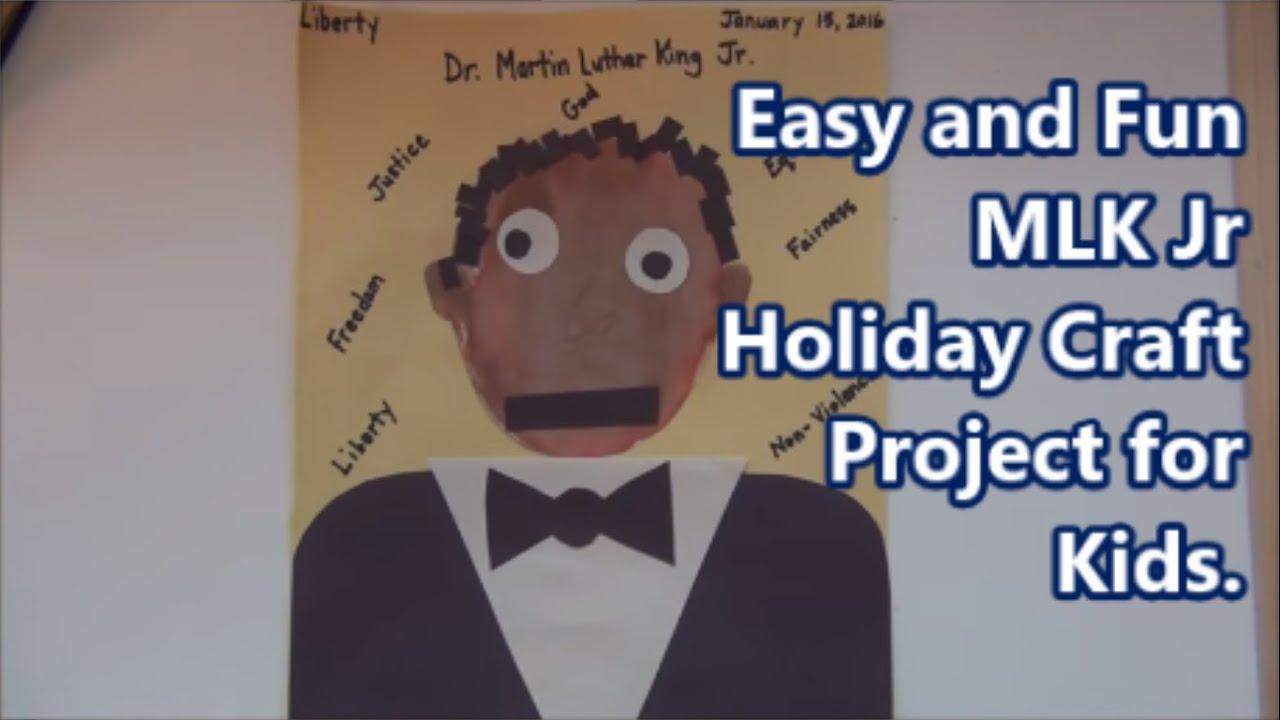 Fun MLK Jr Holiday Craft Project for Kids /Proyecto Diversión MLK Jr ...