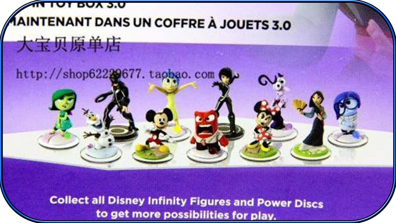 infinity 3 0 figures. disney infinity 3.0 leaked figures rumour - minnie, olaf, inside out, tron youtube infinity 3 0 figures 6