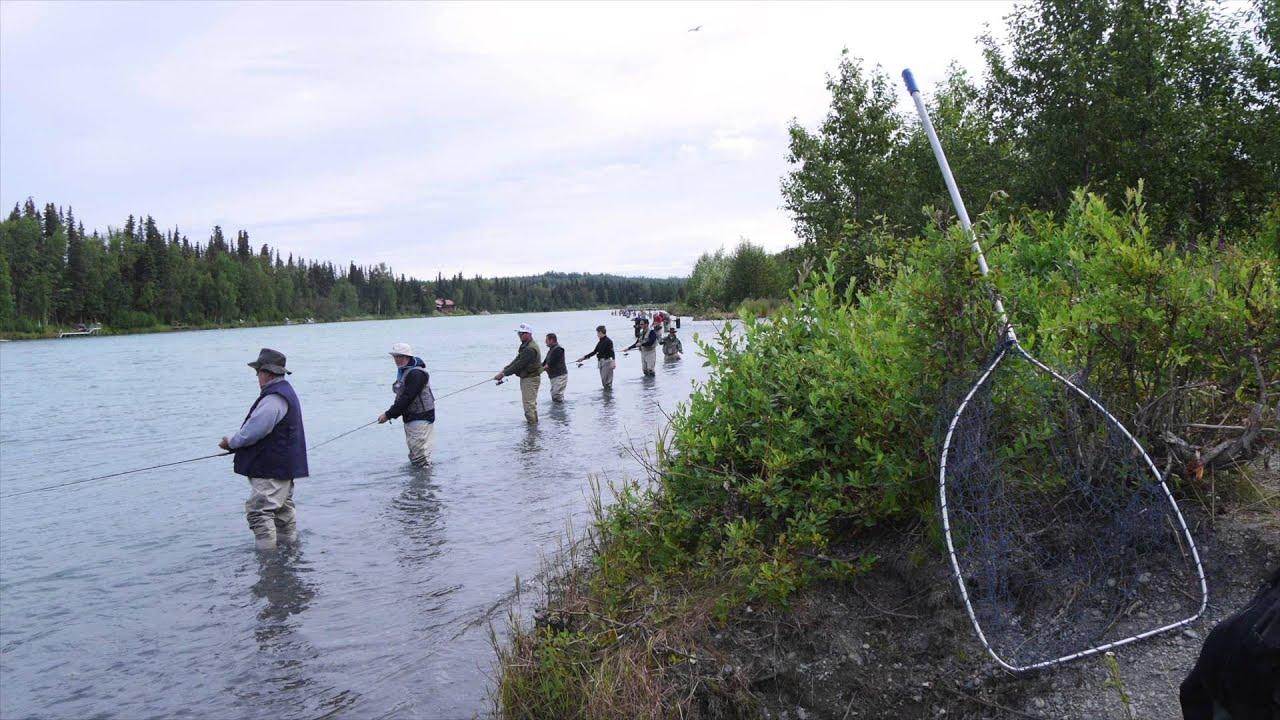 Kenai river sockeye salmon fishing 2014 youtube for Kenai river fishing