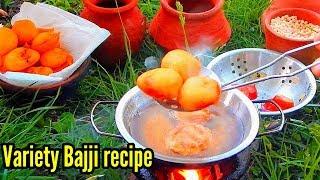 Tomato bajji   Street Bajji Recipe  Miniature cooking   Indian Street food   Egg bajji   mushroom