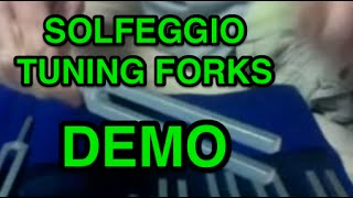 Solfeggio Tuning Forks Demonstrated  528 Hz