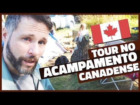TOUR PELO NOSSO ACAMPAMENTO NO CANADÁ! - HORNBY ISLAND #5 - Vlog Ep.142