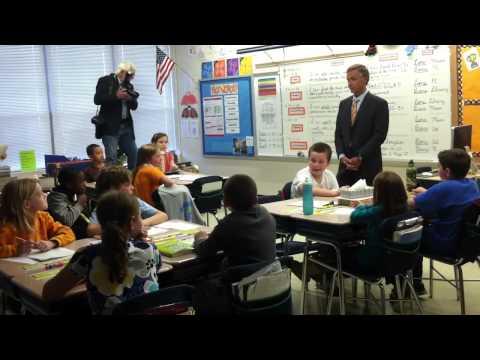 Gov. Bill Haslam and wife Crissy visit Bearden Elementary