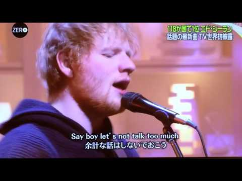 Ed Sheeran(エドシーラン) - Shape Of You on Japanese TV 【NEWS ZERO】