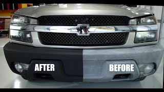 How to restore your cars or trucks faded plastic bumpers and black exterior trim, That Black Stuff