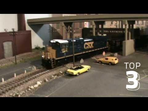 MTH HO DCC SOUND SD70ACE DIESEL ENGINE ON LAYOUT IN CINCINNATI OHIO PART3
