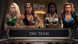 WWE 2k17 - Brie Bella and Kelly Kelly VS Naomi and Raquel Diaz