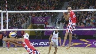 Men's Beach Volleyball Preliminary Round - USA v ESP | London 2012 Olympics