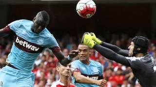 Arsenal 0-2 West Ham 9.8.15 2015/16