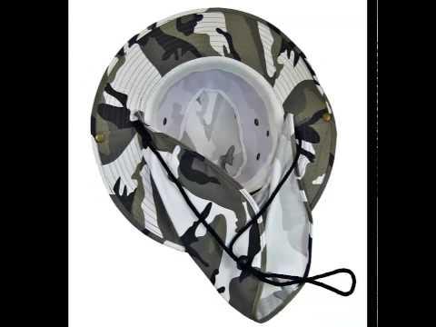 Military Camouflage Boonie Bush Safari Outdoor Fishing Hiking Hunting Boating Snap Brim Hat Sun Cap