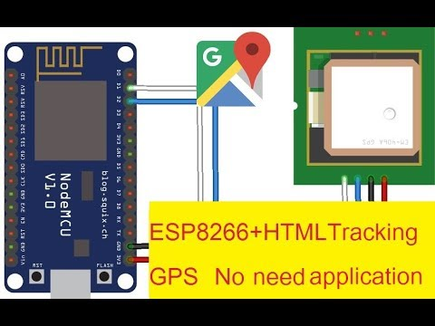 ESP8266 + GPS+realtime Tracking+HTML