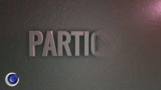 Красивый текст из частиц в Cinema 4D (Particles Text in Cinema 4D)
