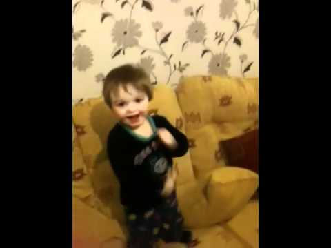 Baby Kyle dancing to mama do the hump