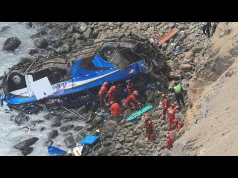 At least 48 dead in Peru bus crash