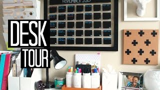Desk Tour and How I Organize my Desk for School Laurie Martel
