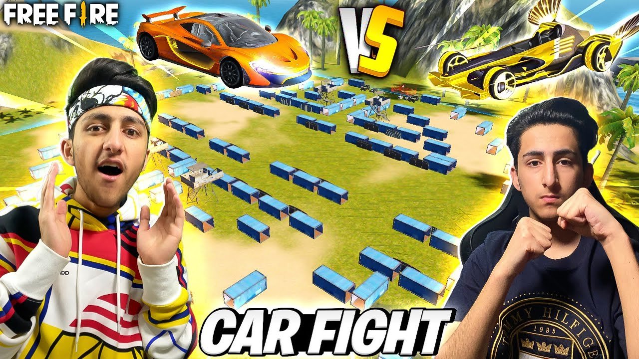 Car Fight In Free Fire Craftland Custom 4 Vs 4 Best Funny Gameplay 😂 - Garena Free Fire