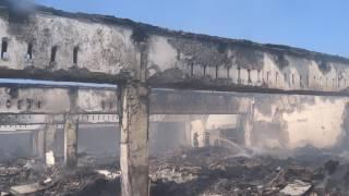 Dezastrul ramas in urma incendiului din Bariera Traian