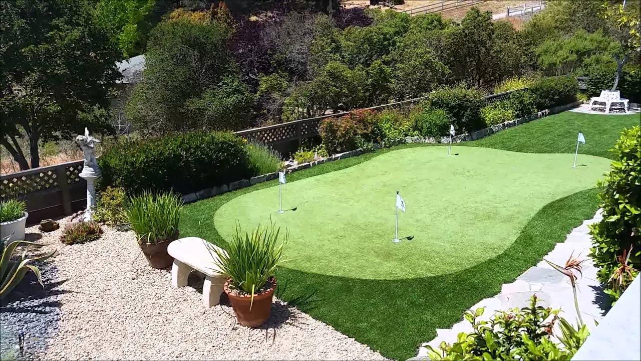 heavenly greens u2013 backyard putting green youtube