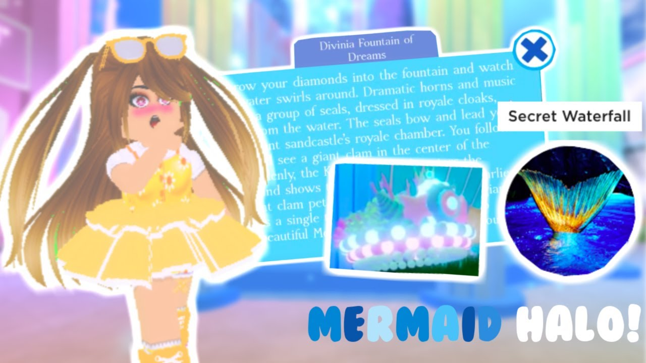 How To Get The Mermaid Halo New Update Roblox Royale High Read Pinned Comment - halo in royal high roblox