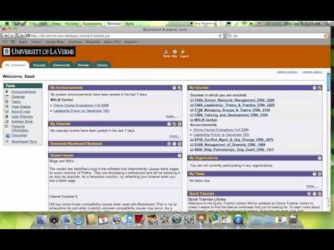 University of La Verne Blackboard login