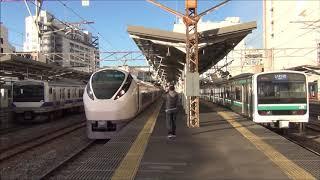 水戸駅 特急ひたち1号いわき行 E657系発着 2018.12.31