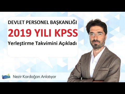 2019 yılı KPSS yerleştirme takvimi yayımlandı