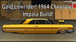 PCR is Back! | Gold Lowrider! 1964 Chevrolet Impala Build in Pixel Car Racer!