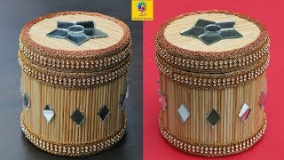 How to Make a Jewellery Box | Bamboo Stick Jewellery Box | DIY Jewellery Box