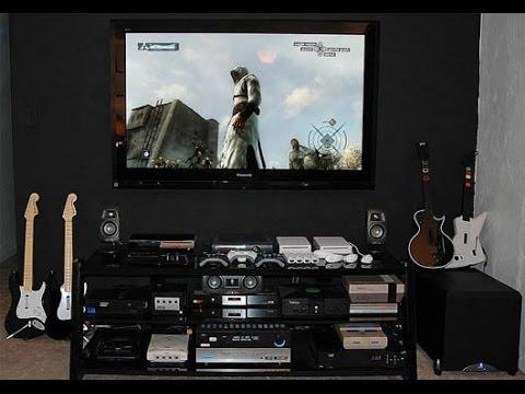 gaming room tour 2014 gaming setup hd youtube. Black Bedroom Furniture Sets. Home Design Ideas