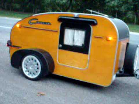 Camper motorcycle pocket camper tiny trailer tent smart camper