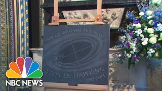 Stephen Hawking Laid To Rest In Westminster Abbey | NBC News