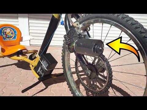E Bike with Wiper Motor - Drift Bike - Silecek motoru ile drift bisikleti denemesi