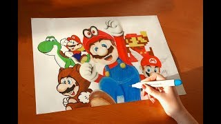 Speed Drawing all Mario (Odyssey and others)