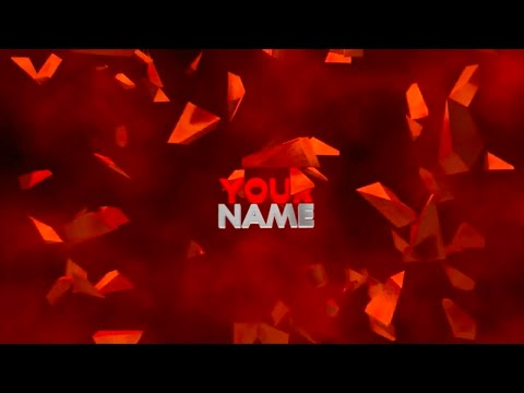 FREE 3D Text Explosion Intro Template!