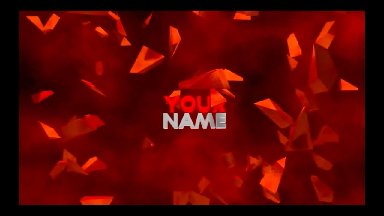 FREE 3D Text Explosion Intro Template #27 - YouTube