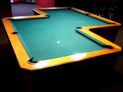 Crazy Z Shaped Pool Table Unique Odd Pool Table Come Play