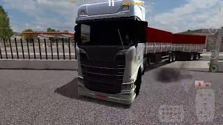 Scania S Estacionando Bitrem no Retrovisor World Truck Driving Simulator