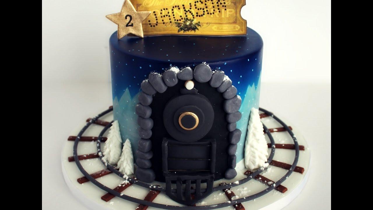 Polar Express Cake
