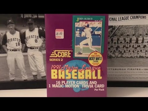 1991 Score Series Two Box Break Part 1 Chipper Jones Rc Mickey Mantle Cards Chase