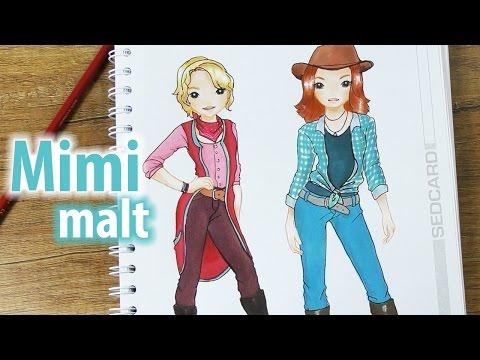 Bibi Tina Deutsch Im Topmodel Malbuch Mimi Malt Die